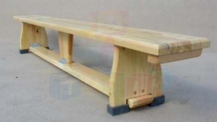 Ławka gimnastyczna 2,00 x 0,22 x 0,30 m nogi drewniane