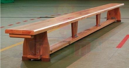 Ławka gimnastyczna 2,50 x 0,22 x 0,30 m nogi drewniane