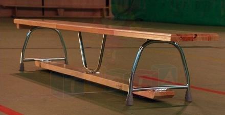 Ławka gimnastyczna 2,50 x 0,22 x 0,30 m nogi metalowe