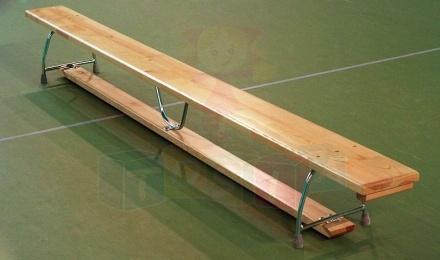 Ławka gimnastyczna 3,00 x 0,22 x 0,30 m nogi metalowe