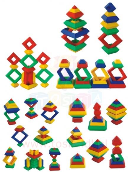 Klocki edukacyjne piramidka QL